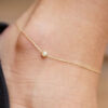 Anklet Solitaire 0.10 carat