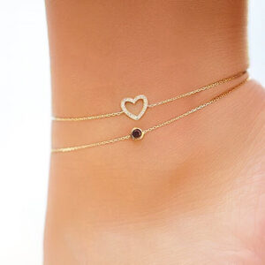 Anklet 0.10 CT Black Diamond