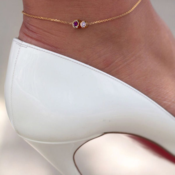 Anklet Duo Diamond-RUBY