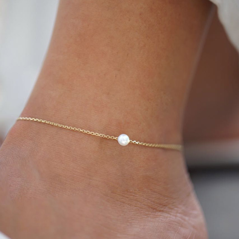 Anklet Pearl Small pearl on Chain with no Diamond