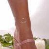 ANKLET FAIRY FLOWER 18K GOLD AND DIAMONDS