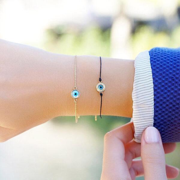 Bracelet Evil Eye Diamond on Thread