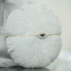 Bracelet Charms Eye With Oval Diamonds Pave Setting