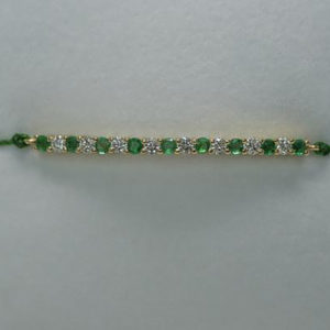 Bracelet Ophelia Emerald on Thread