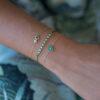 Bracelet Ophelia Emerald on Thread