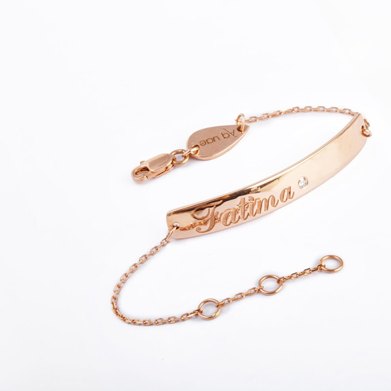 Baby Bracelet Name Micro 18k Gold And