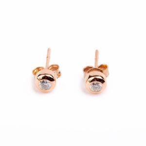 Earrings Single Diamond 0.10 carat