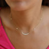 Necklace Diamond Crescent Moon