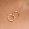 Necklace Mingle Two Circles, One Circle With Diamond
