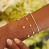 BRACELET CONSTELLATION CHAIN AND THREAD 18K GOLD AND DIAMONDS