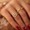 RING SCARLETT 18K GOLD AND DIAMONDS