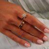 RING RICH & BOLD DIAMOND BAND - 18K GOLD