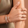 BANGLE RICH AND CLASSY 18K GOLD AND DIAMONDS